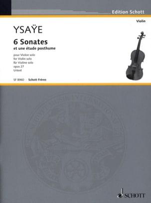 6 Sonates op. 27 / Etude posthume Eugène Ysaÿe Partition laflutedepan