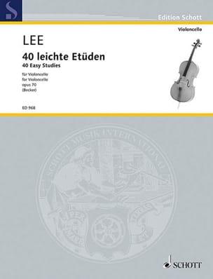 40 Leichte Etüden op. 70 Sebastian Lee Partition laflutedepan