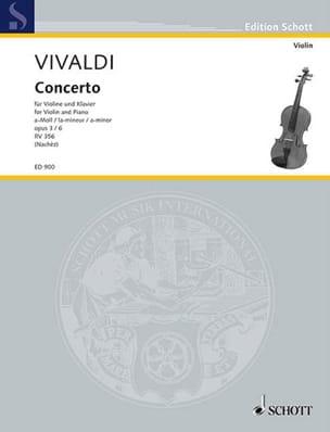 Concerto la mineur op. 3 n° 6 Nachèz VIVALDI Partition laflutedepan