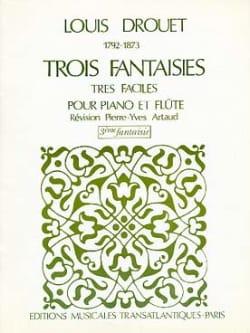 3 Fantaisies n° 3 op. 39 Louis Drouet Partition laflutedepan