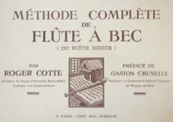 Méthode Complète de Flûte Alto Roger Cotte Partition laflutedepan