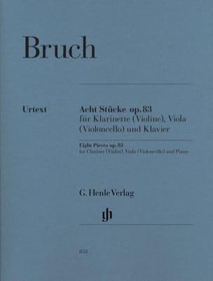 8 Stücke Opus 83 BRUCH Partition Trios - laflutedepan