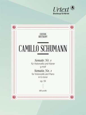 Sonate N°1 Opus 59 en Sol mineur - Edition Urtext laflutedepan