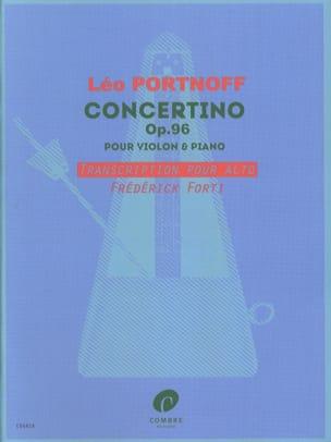 Concertino Leo Portnoff Partition Alto - laflutedepan