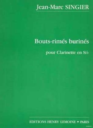 Bouts-rimés burinés - Jean-Marc Singier - Partition - laflutedepan.com
