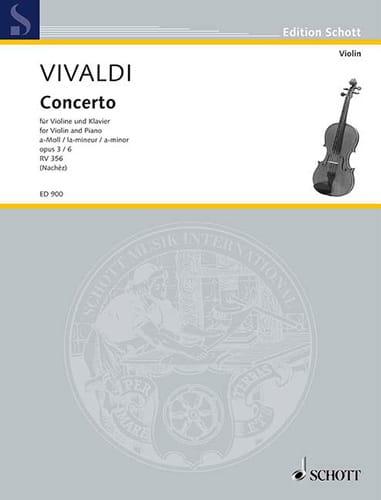 Concerto la mineur op. 3 n° 6 Nachèz - VIVALDI - laflutedepan.com
