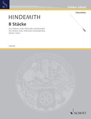 8 Stücke, op. 44/3 - Partitur HINDEMITH Partition laflutedepan