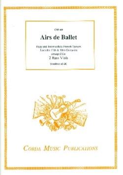 Airs de ballets - 2 Basses de viole Partition laflutedepan