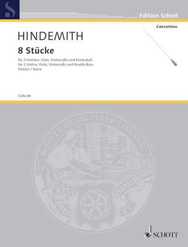 8 Stücke, op. 44/3 - Partitur - HINDEMITH - laflutedepan.com