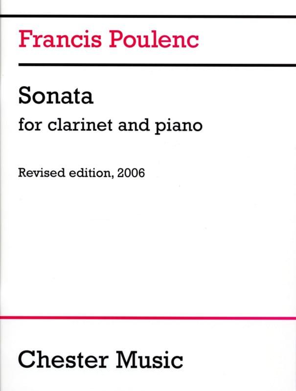 Sonate - Clarinette - POULENC - Partition - laflutedepan.com