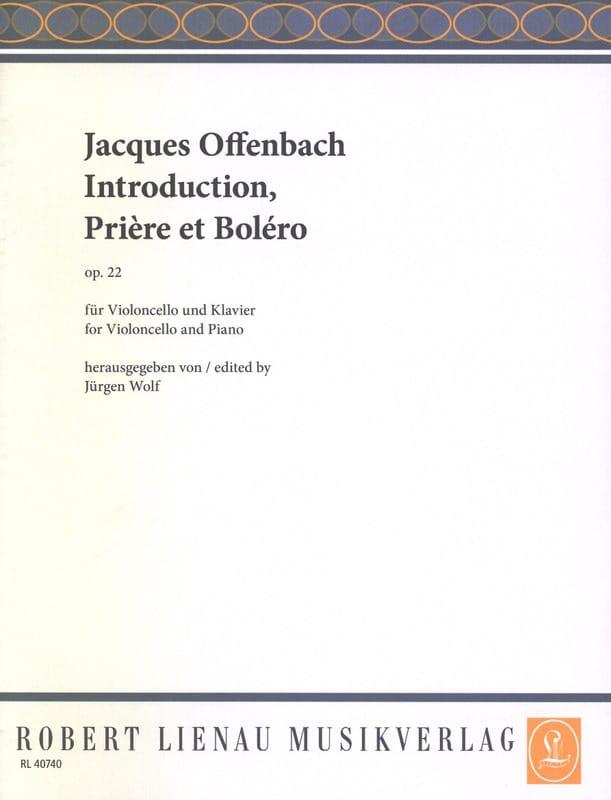 Introduction , Prière et Boléro op. 22 - OFFENBACH - laflutedepan.com