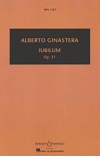 Iubilum op. 51 - GINASTERA - Partition - laflutedepan.com