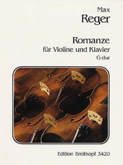 Romanze G-dur Max Reger Partition Violon - laflutedepan