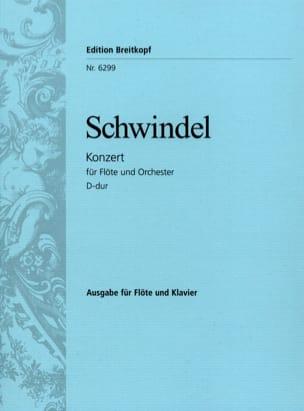 Flötenkonzert D-Dur - Flöte Klavier Friedrich Schwindel laflutedepan