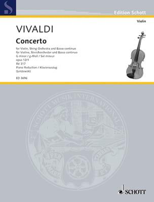 Concerto op. 12 n° 1 - RV 317 en sol mineur VIVALDI laflutedepan