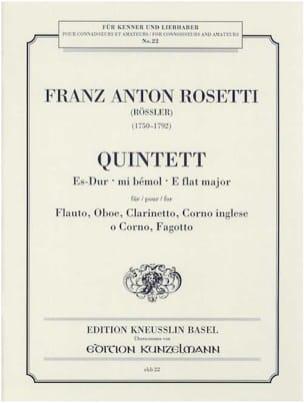 Quintett Es-Dur -Stimmen Antonio (Rösler) Rosetti laflutedepan
