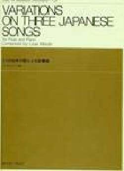 Variations on 3 japanese songs Louis Moyse Partition laflutedepan