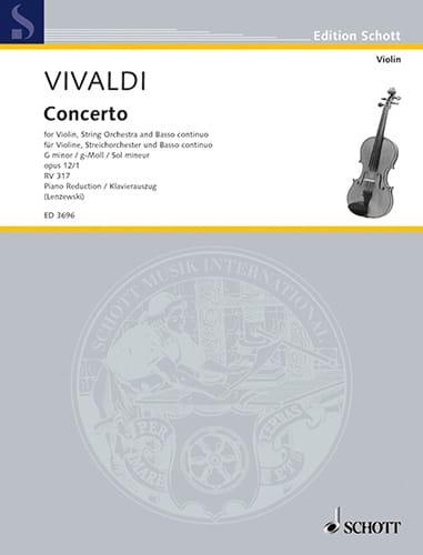 Concerto op. 12 n° 1 - RV 317 en sol mineur - laflutedepan.com