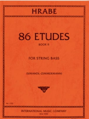86 Etudes, Volume 2 - String bass - Josef Hrabe - laflutedepan.com