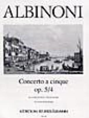 Concerto a cinque op. 5/4 - ALBINONI - Partition - laflutedepan.com