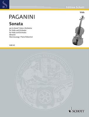 Sonata per la Grand Viola e Orchestra PAGANINI Partition laflutedepan