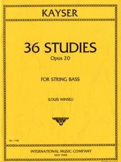 36 Etudes op. 20 - Contrebasse Heinrich Ernst Kayser laflutedepan