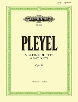 6 Duos op. 48 Ignaz Pleyel Partition Violon - laflutedepan