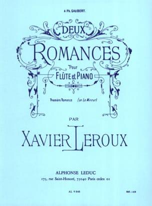 Deux Romances - N° 1 En la Mineur Xavier Leroux Partition laflutedepan