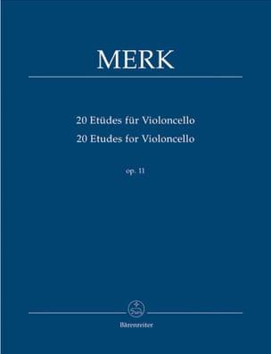 20 Etudes Pour Violoncelle Op. 11 Joseph Merk Partition laflutedepan