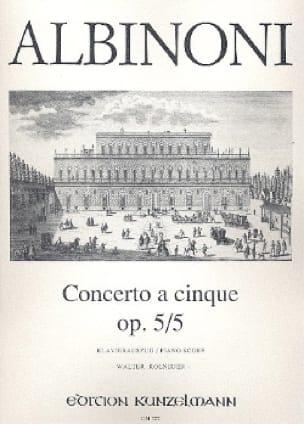 Concerto a cinque op. 5/5 - Violine Klavier - laflutedepan.com