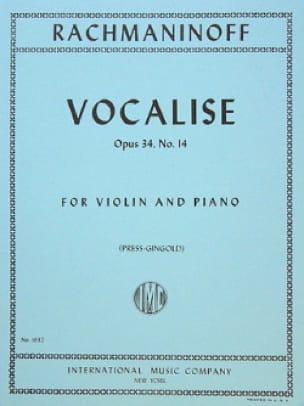 Vocalise op. 34 n° 14 - Violin - RACHMANINOV - laflutedepan.com