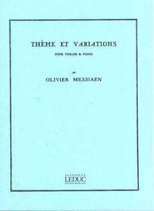 Thème et variations MESSIAEN Partition Violon - laflutedepan