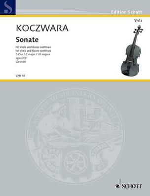 Sonate en ut majeur op. 2 n° 2 Franz Koczwara Partition laflutedepan
