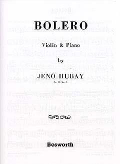 Boléro, op. 51 n° 3 Jenö Hubay Partition Violon - laflutedepan