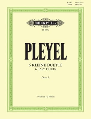 6 kleine Duette op. 8 Ignaz Pleyel Partition Violon - laflutedepan