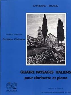 4 Paysages italiens - Christian Manen - Partition - laflutedepan.com