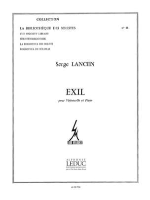 Exil Serge Lancen Partition Violoncelle - laflutedepan