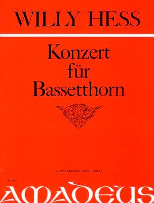 Konzert für Bassethorn Willy Hess Partition Clarinette - laflutedepan