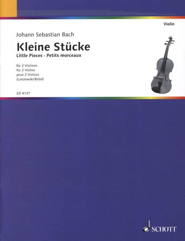 Kleine Stücke für 2 Geigen - BACH - Partition - laflutedepan.com