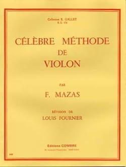 Célèbre méthode de violon Fournier MAZAS Partition laflutedepan