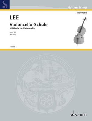 Violoncello-Schule op. 30 Sebastian Lee Partition laflutedepan