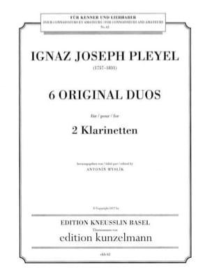 6 Original Duos - 2 Klarinetten Ignaz Pleyel Partition laflutedepan