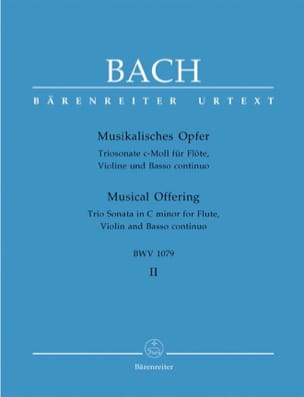 Musikalisches Opfer Bd. 2: Triosonate c-moll - Flöte Violine Bc laflutedepan