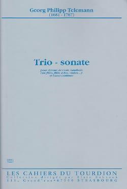 Trio - Sonate -Dessus de viole, hautbois et Bc TELEMANN laflutedepan