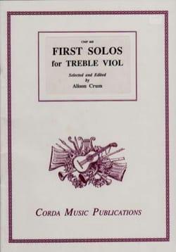 First Solos for Treble Viol - Partition - di-arezzo.fr
