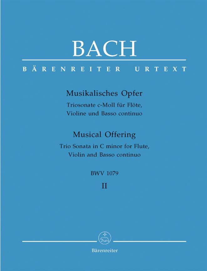 Musikalisches Opfer Bd. 2: Triosonate c-moll - Flöte Violine Bc - laflutedepan.com