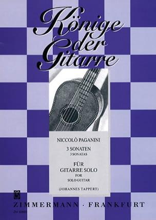 3 Sonaten -Gitarre solo PAGANINI Partition Guitare - laflutedepan
