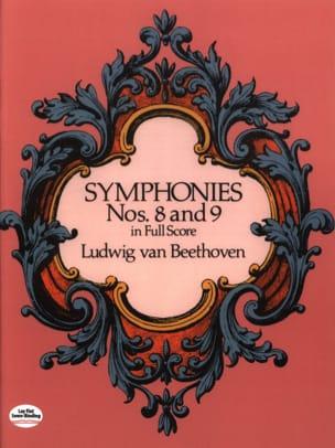 Symphonies N° 8 & 9 - Full Score BEETHOVEN Partition laflutedepan