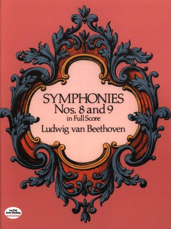 Symphonies N° 8 & 9 - Full Score - BEETHOVEN - laflutedepan.com