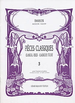 Pièces classiques - Volume 3 - Basson Patrice Sciortino laflutedepan